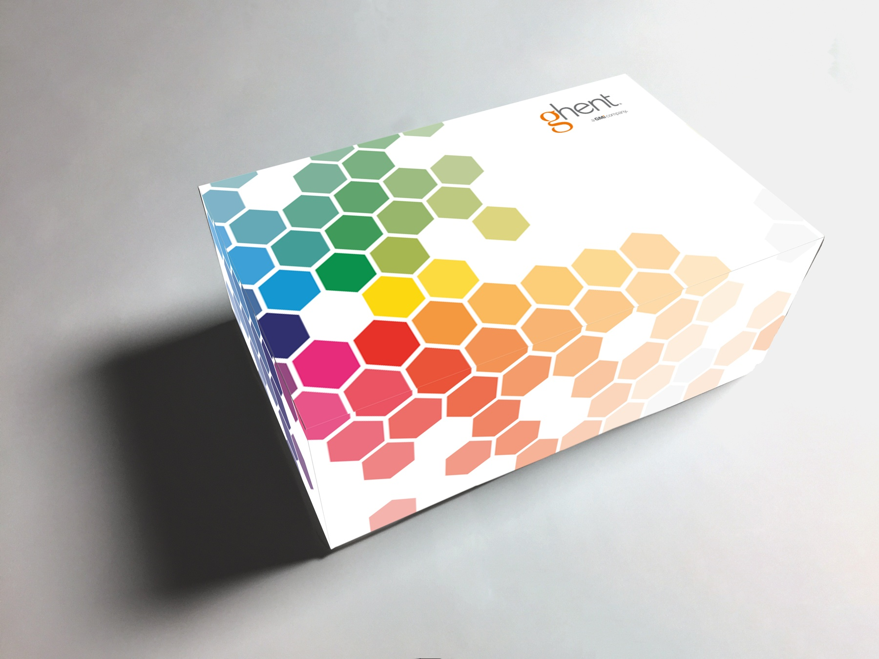A photo of the Hex product box design