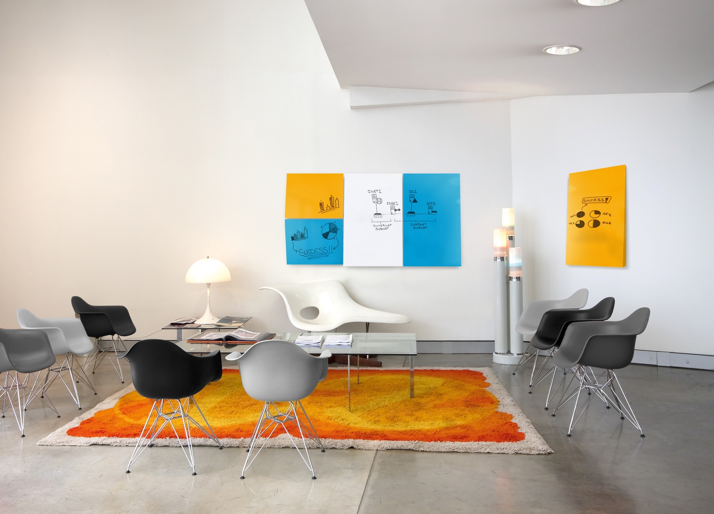 A photo of the Link Wedge product in an open meeting space