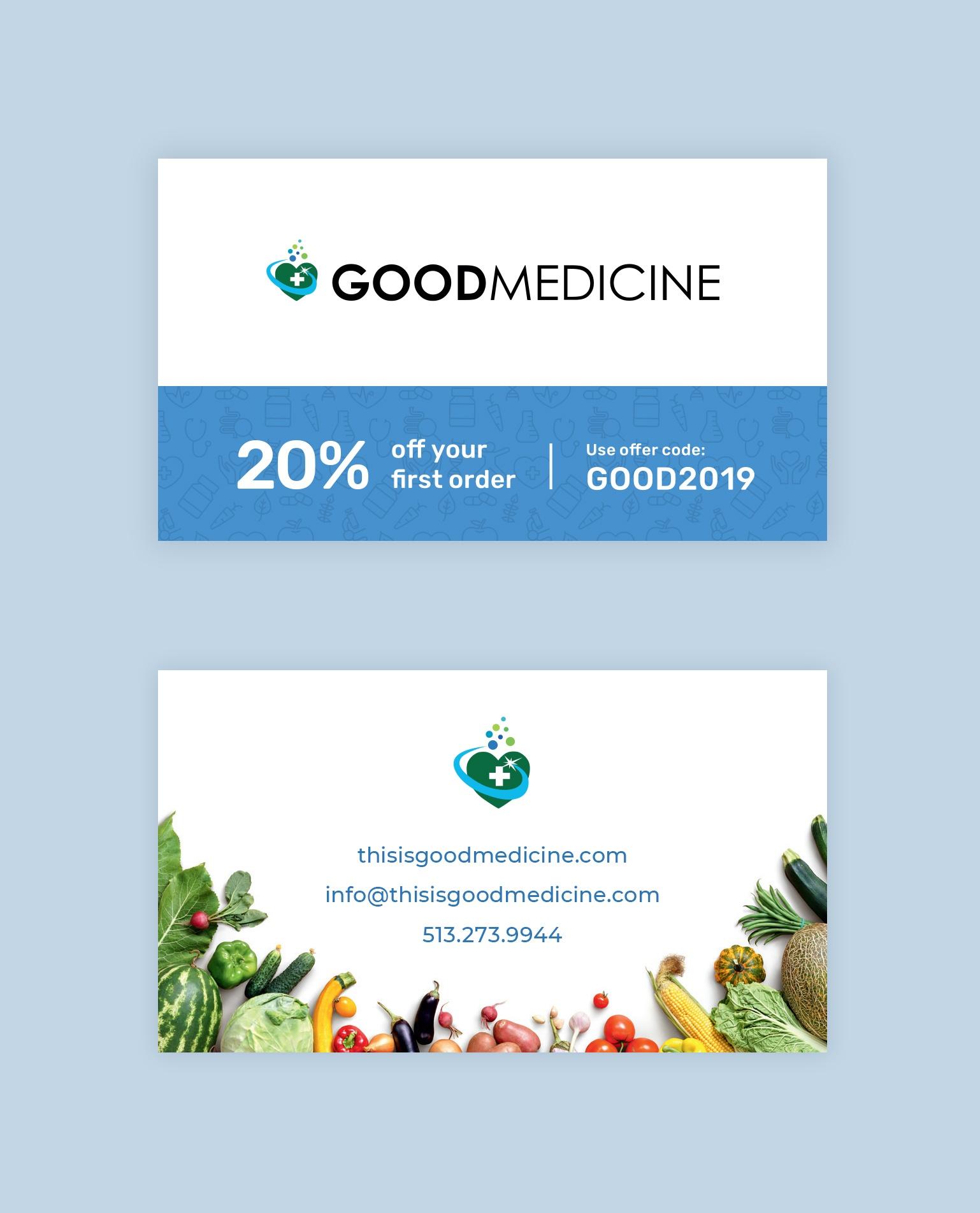 An image of a coupon card design