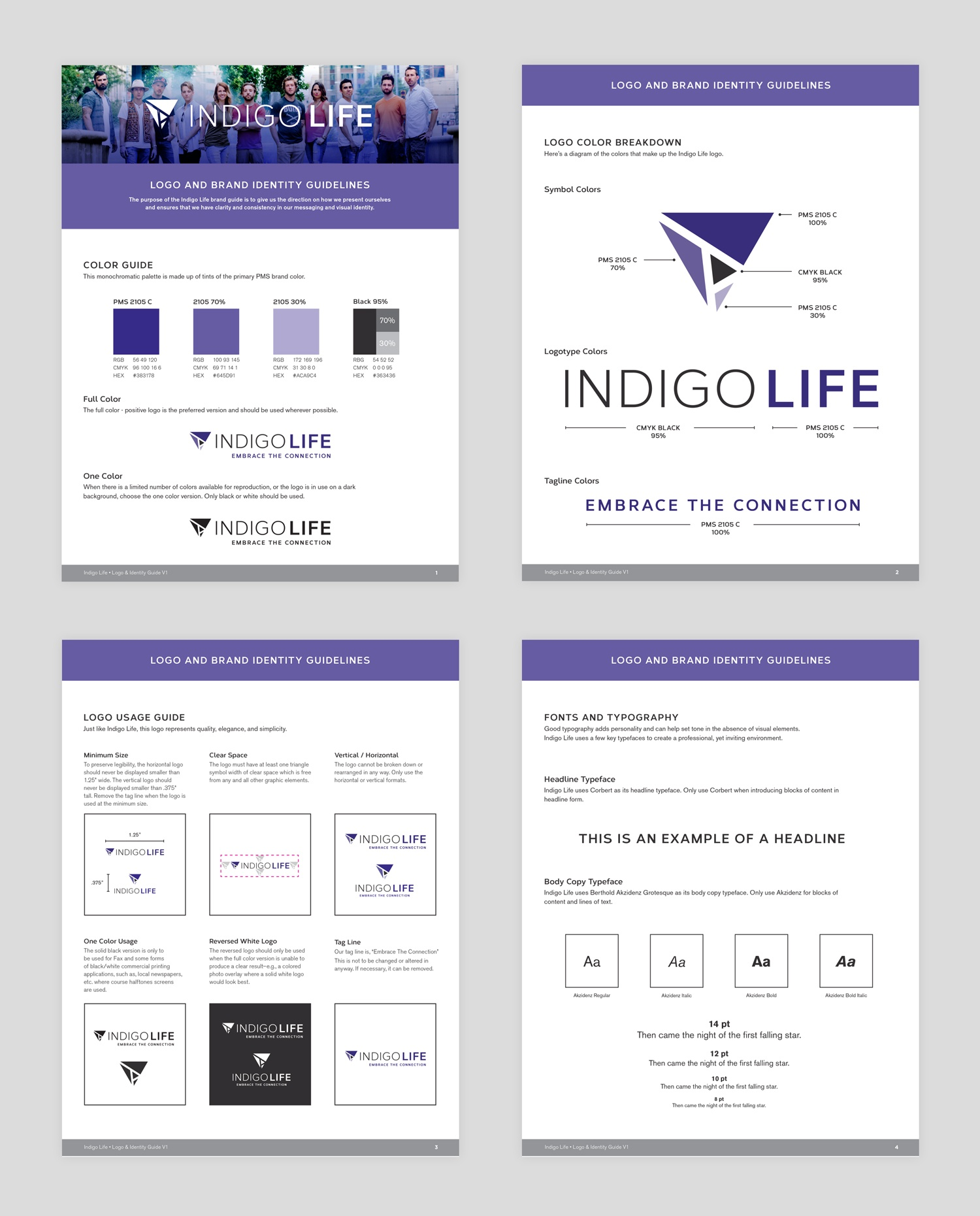 A image of the brand guide pages