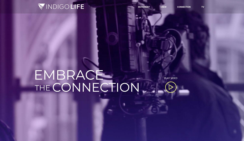 A screenshot of indigolifemedia.com homepage