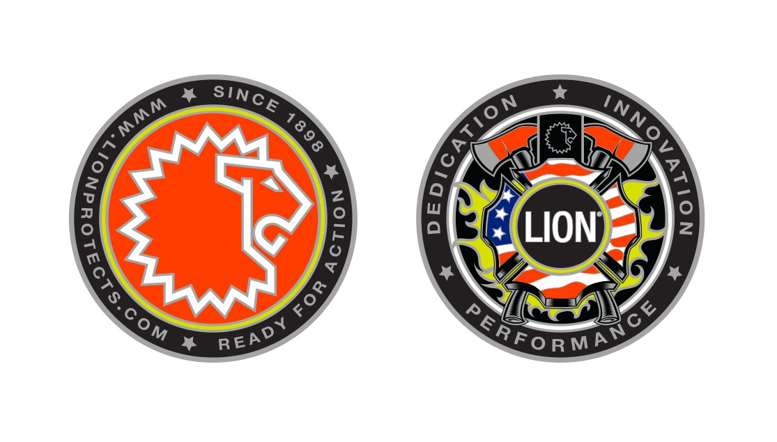 A front and back of a coin design