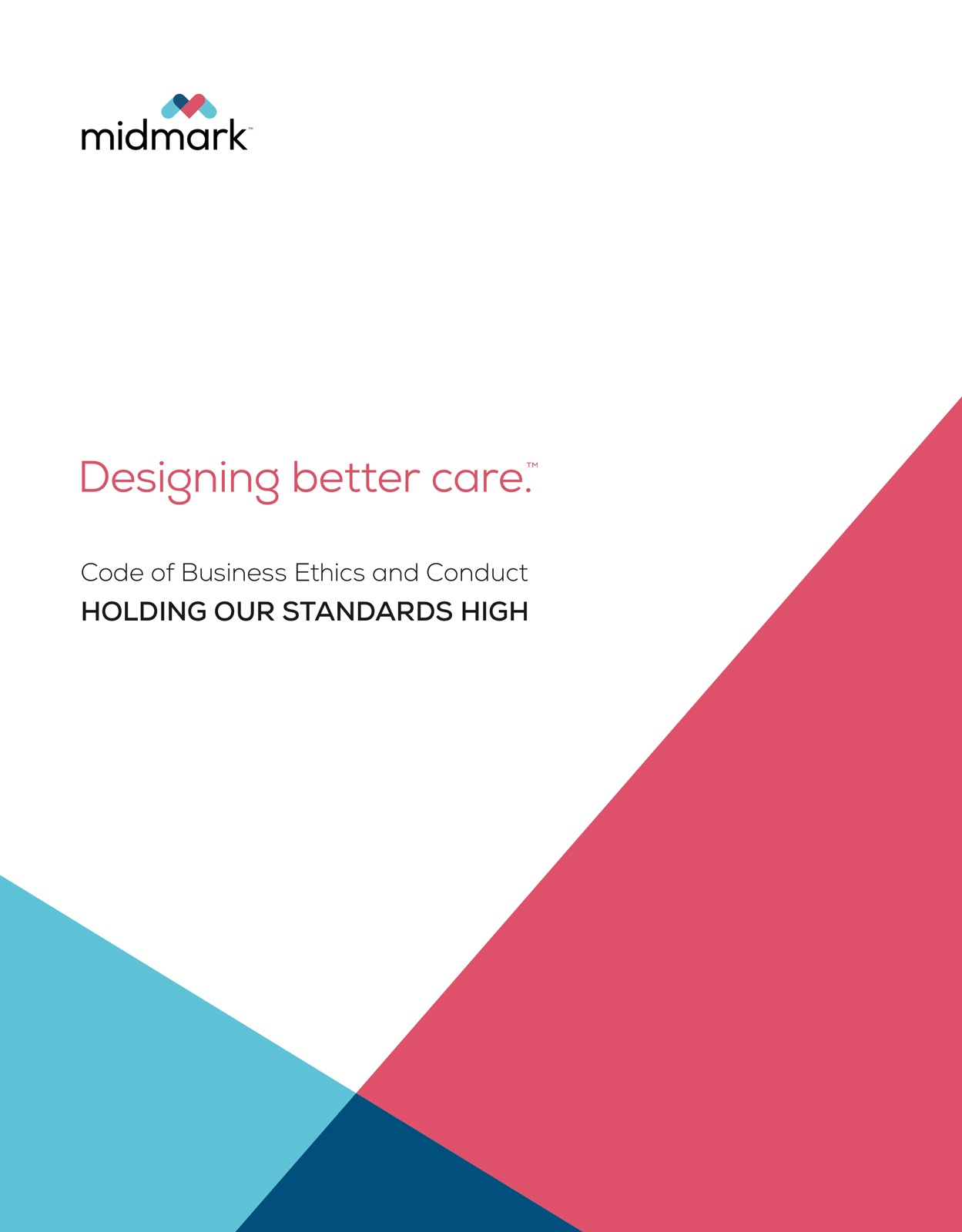 """A cover design for """"code of business ethics and conduct"""""""