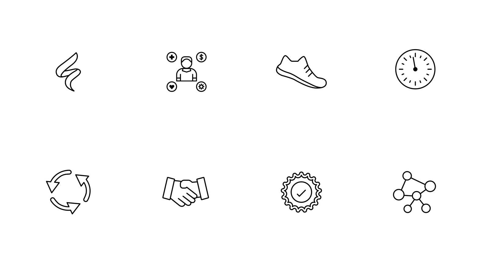 Icon set for Midmark brand