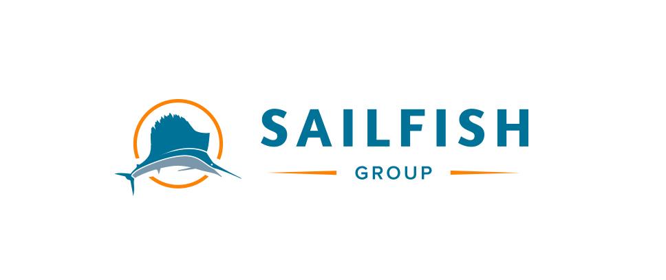 The horizontal layout of the Sailfish Group logo