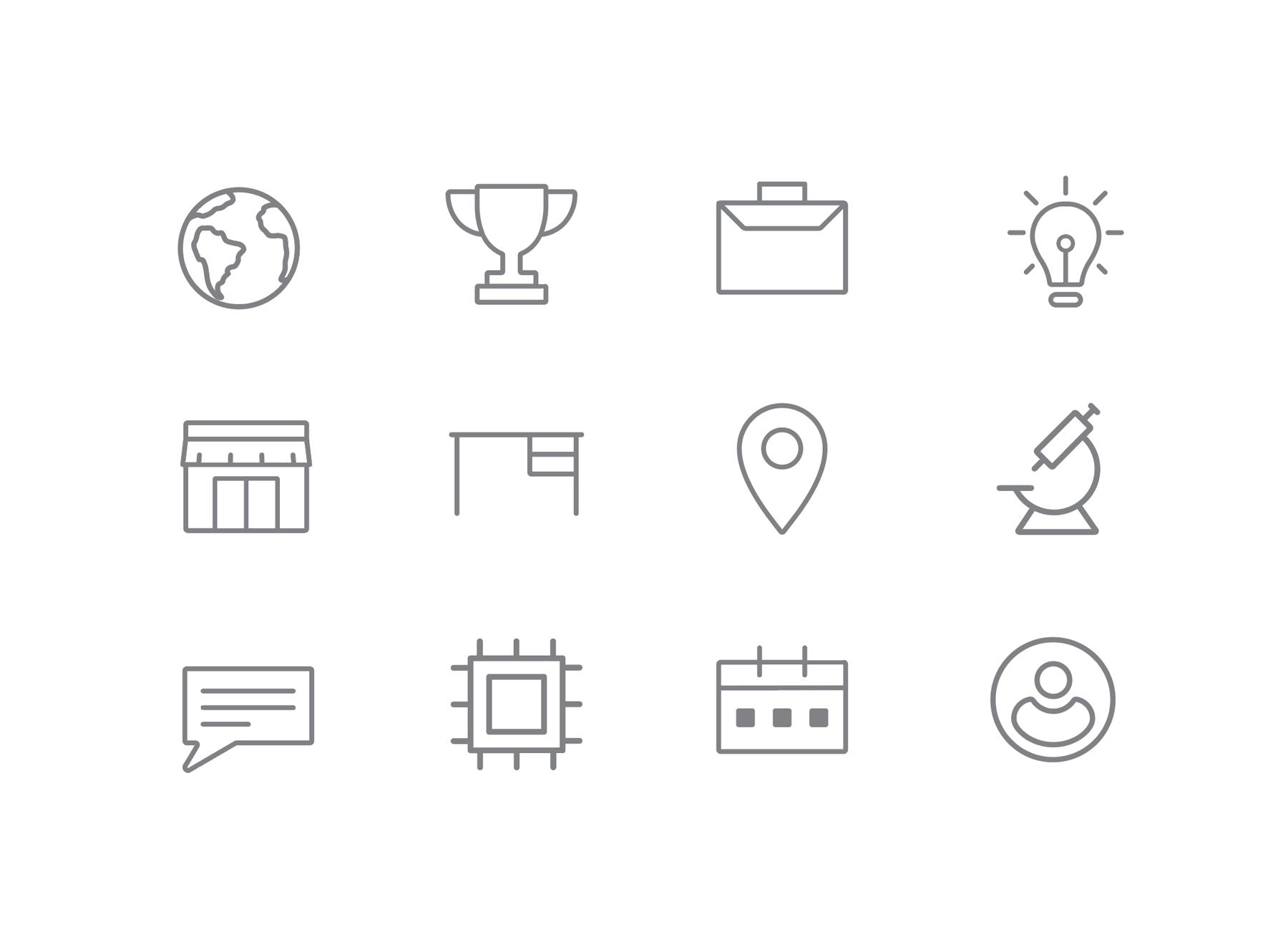 Icon set for The Entrepreneurs Center