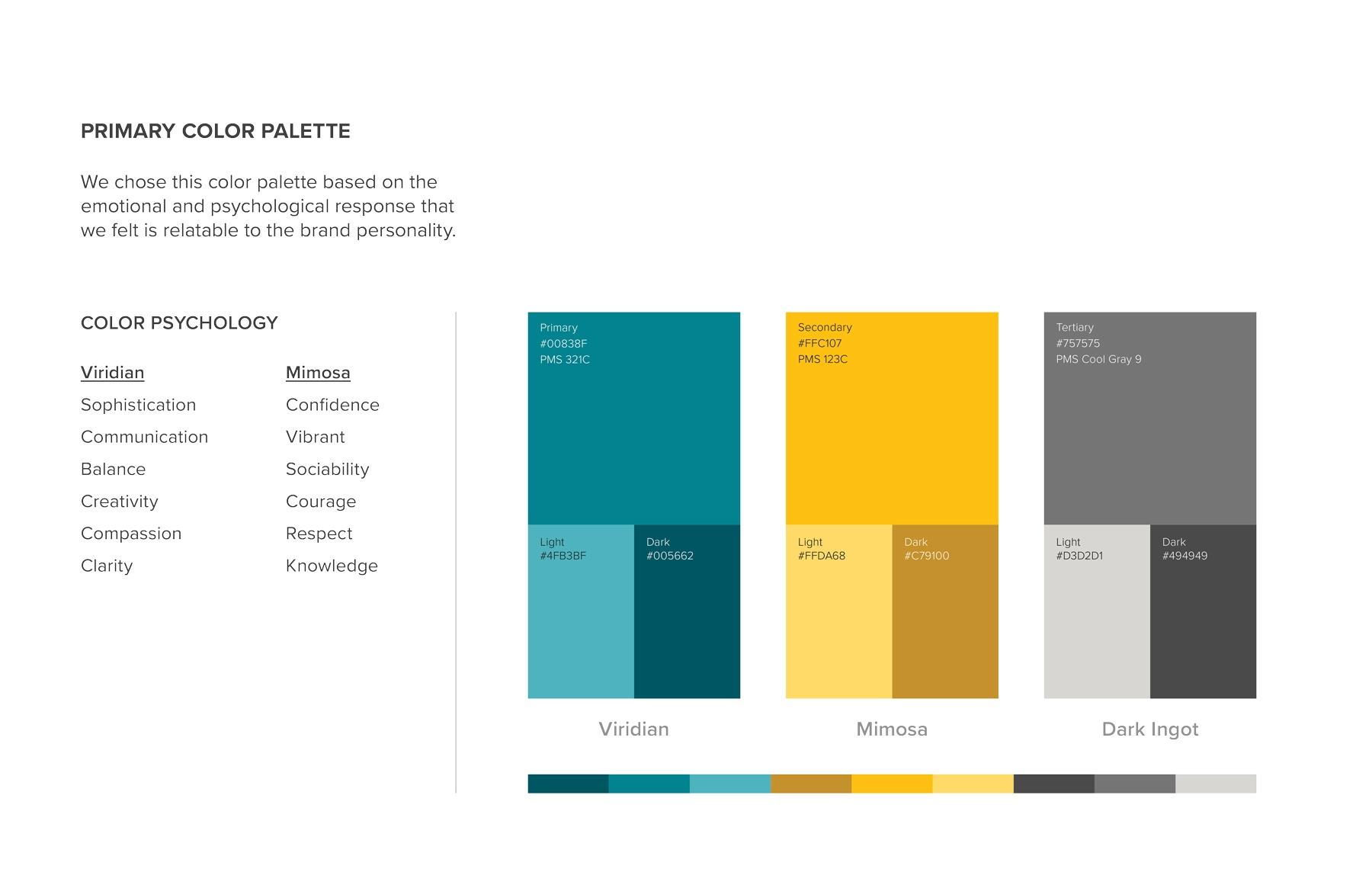 Primary color palette