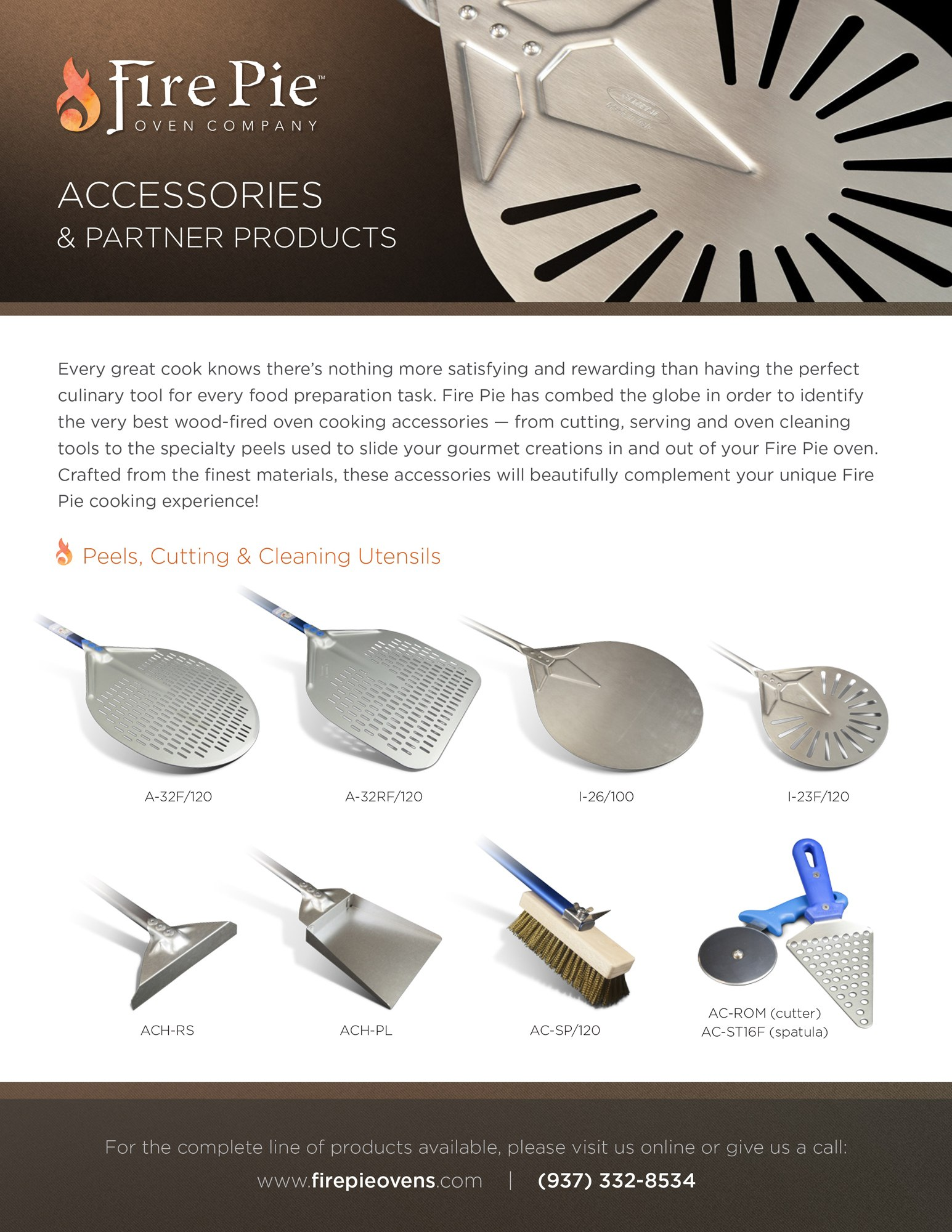An accessories and partner product sell sheet design