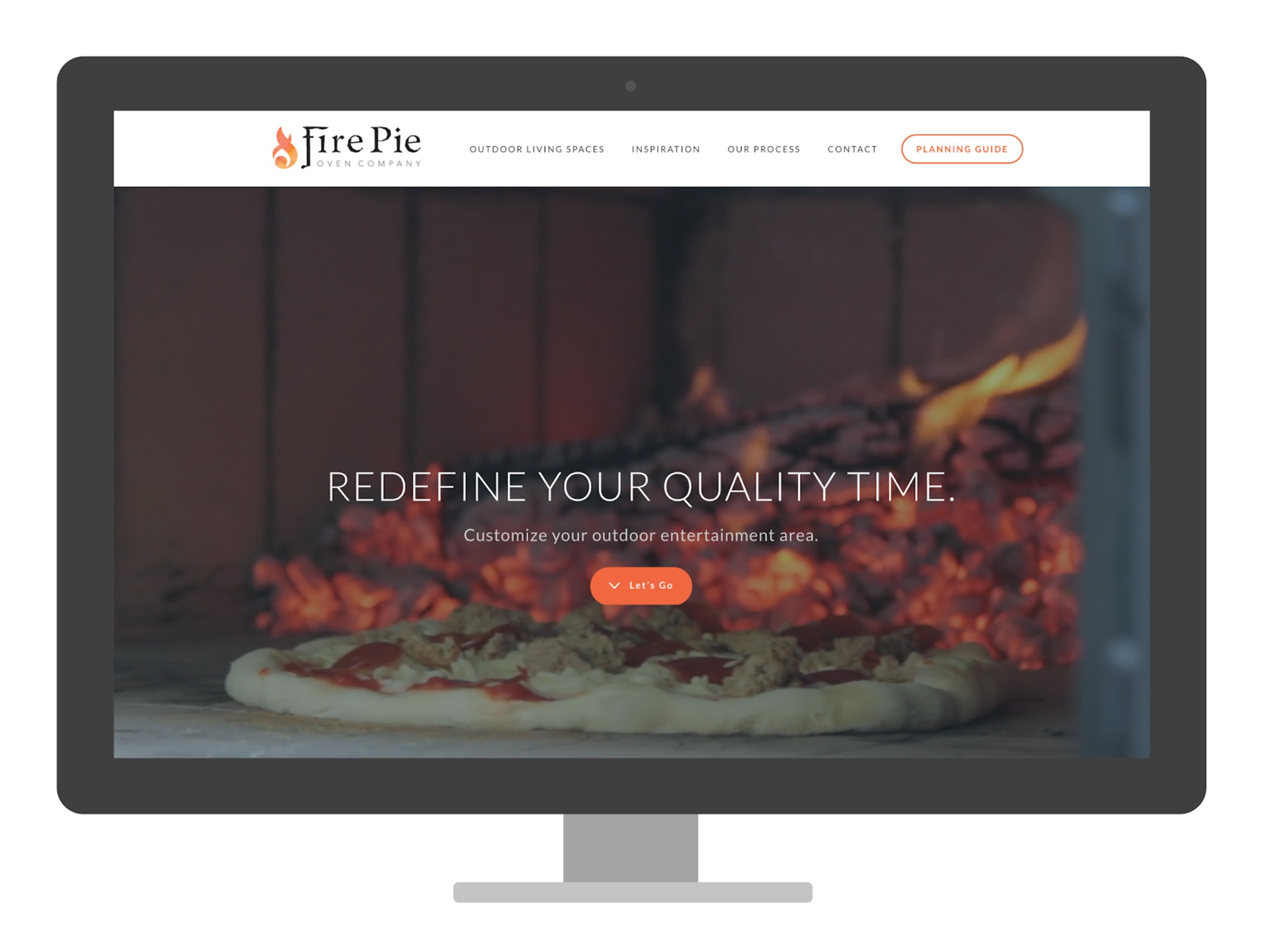 A screenshot of the homepage of firepieovens.com