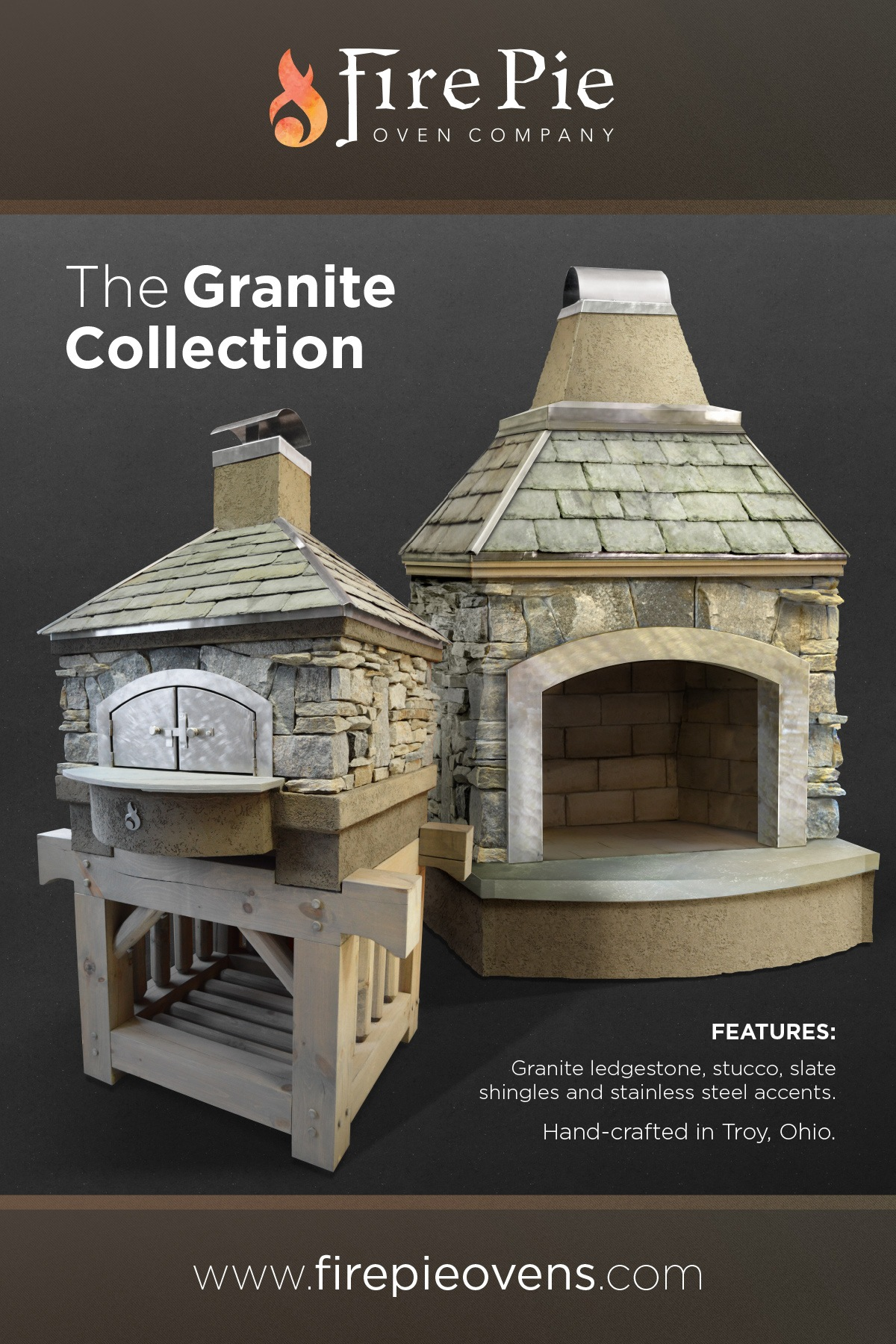 A large poster design for the granite collection