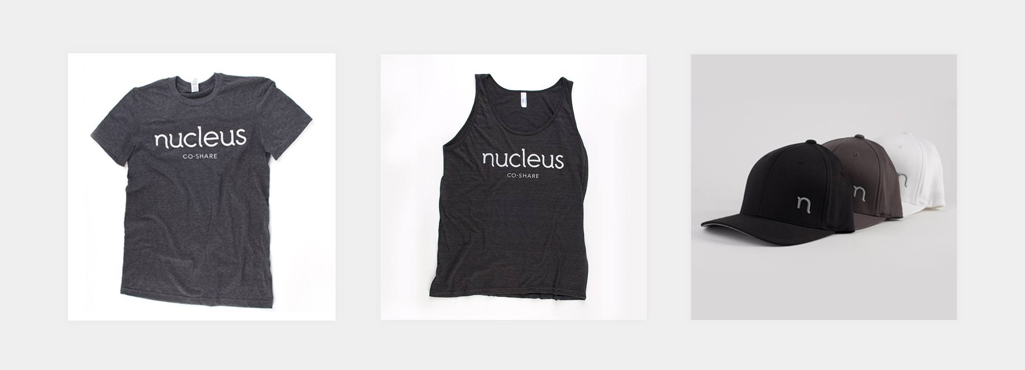 A collection of three photos showing apparel design for sale