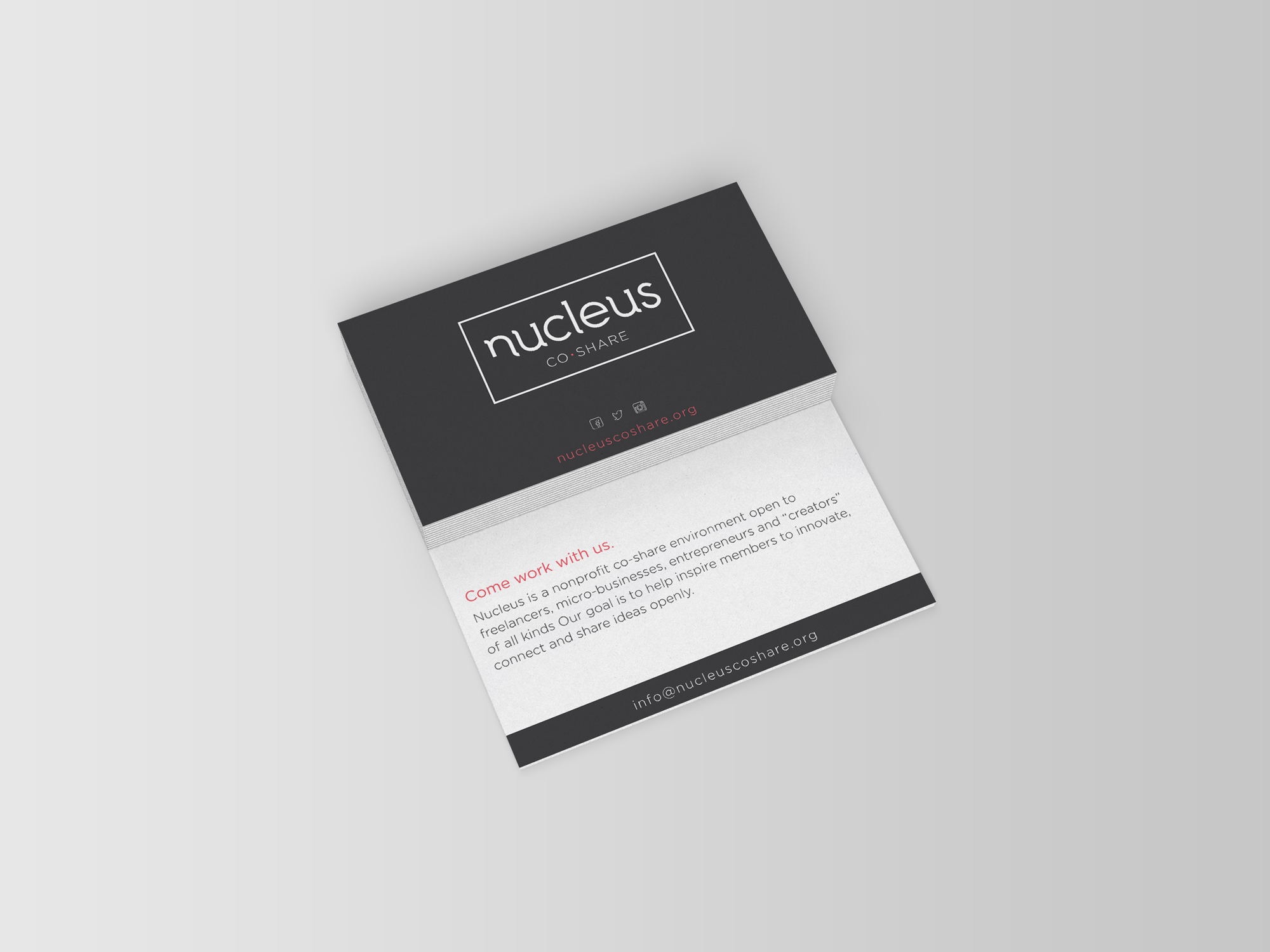 A photo of a business card design