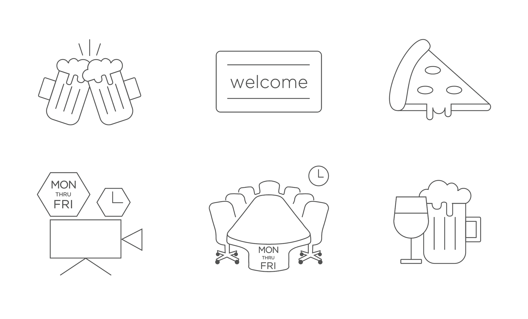 Icon set for Nucleus items of purchase